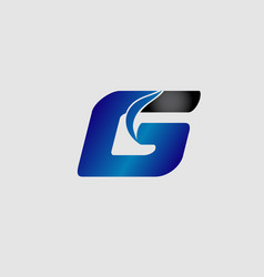 abstract letter g logo design template vector image