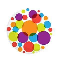 Abstract round dots logo vector