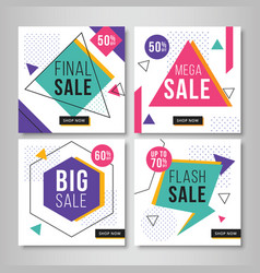 Abstract sale banners for social media vol7 vector