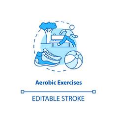 Aerobics exercise turquoise concept icon vector