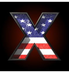 American metal figure x vector