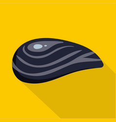 Aquatic shell icon flat style vector