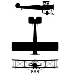 Avro 504K biplane vector