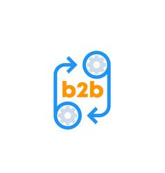 B2b icon with cogwheels vector