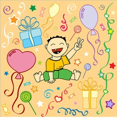 Babys birthday holiday texture in vector vector