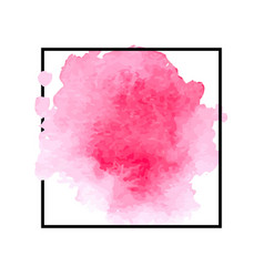 beautiful pink watercolor stain vector image