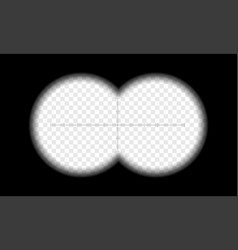 binoculars view transparent circle lens vector image