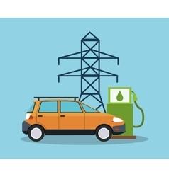 Bio fuel and car design vector