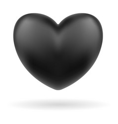 black heart logo icon on white background vector image