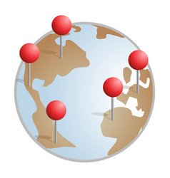 business world conquest vector image