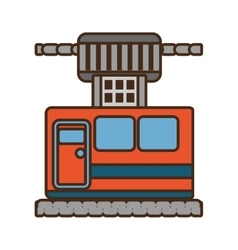 cable way cabine gondola vacation travel vector image