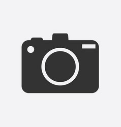 Camera icon on white background flat vector