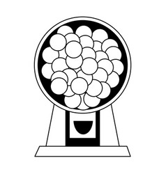candy balls dispenser icon imag vector image