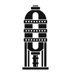 Capacity for oil storage icon simple style vector