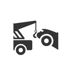 Car towing icon vector