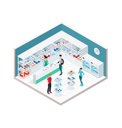 Chemists shop interior composition vector