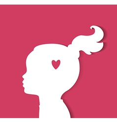 Child head with heart vector image