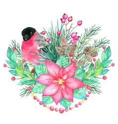 Christmas and new year holiday emblem vector