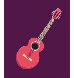 Classical acoustic guitar Isolated silhouette vector