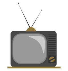 Clipart an old fashioned tv with two vector