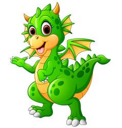 cute baby dragon vector image