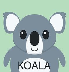 Cute Coala bear cartoon flat icon avatar vector image