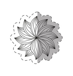 Dahlia flower decoration monochrome vector