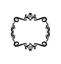 decorative frame floral romantic border cute image vector image