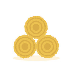 Dried haystack icon vector