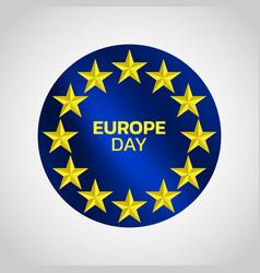 europe day logo icon design vector image