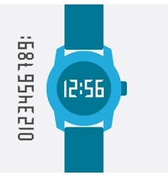 Flat Hand Watch design elements vector