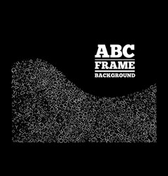 frame created from letters different sizes vector image