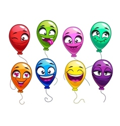 Funny cartoon balloons with comic faces vector image