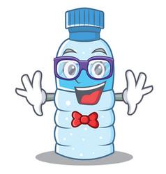 Geek bottle character cartoon style vector