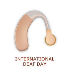Global deaf day concept background realistic vector