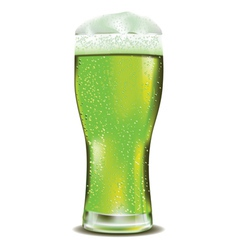 Green beer glass2 vector image
