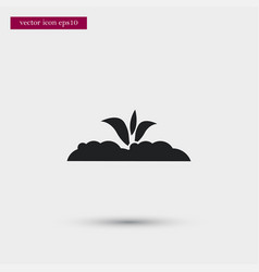 growing plant icon simple gardening element vector image