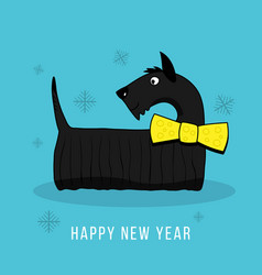happy new year 2018 design element with cute vector image