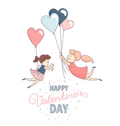 happy valentines day greeting card homosexual vector image