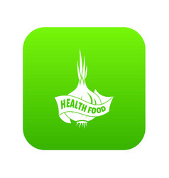 health eco food icon green vector image