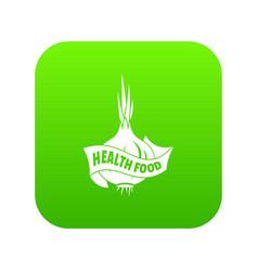 health eco food icon green vector image