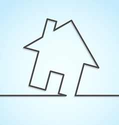 House icon lines background template vector image