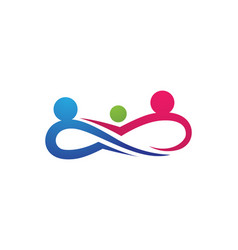 infinity people adoption and community care logo vector image