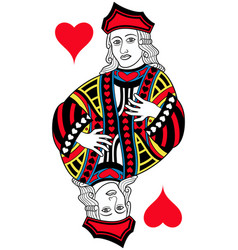 jack of hearts isolated french version vector image