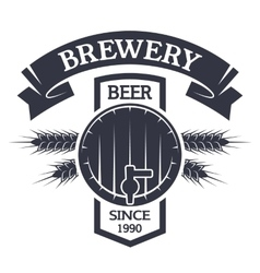 Keg beer Brewing vintage emblem vector