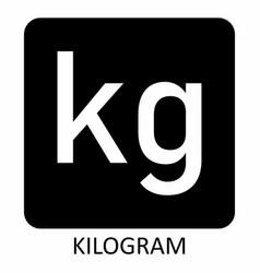 Kilogram symbol vector