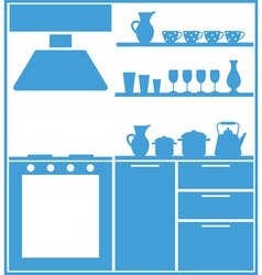 Kitchen silhouette vector image