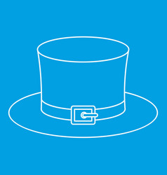 Leprechaun hat icon outline style vector
