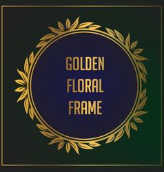 Luxury vintage gold floral ornament frame design vector