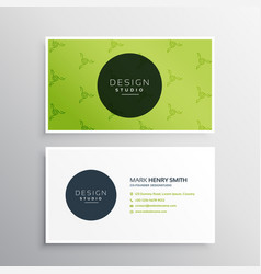 Minimal green business card design template vector